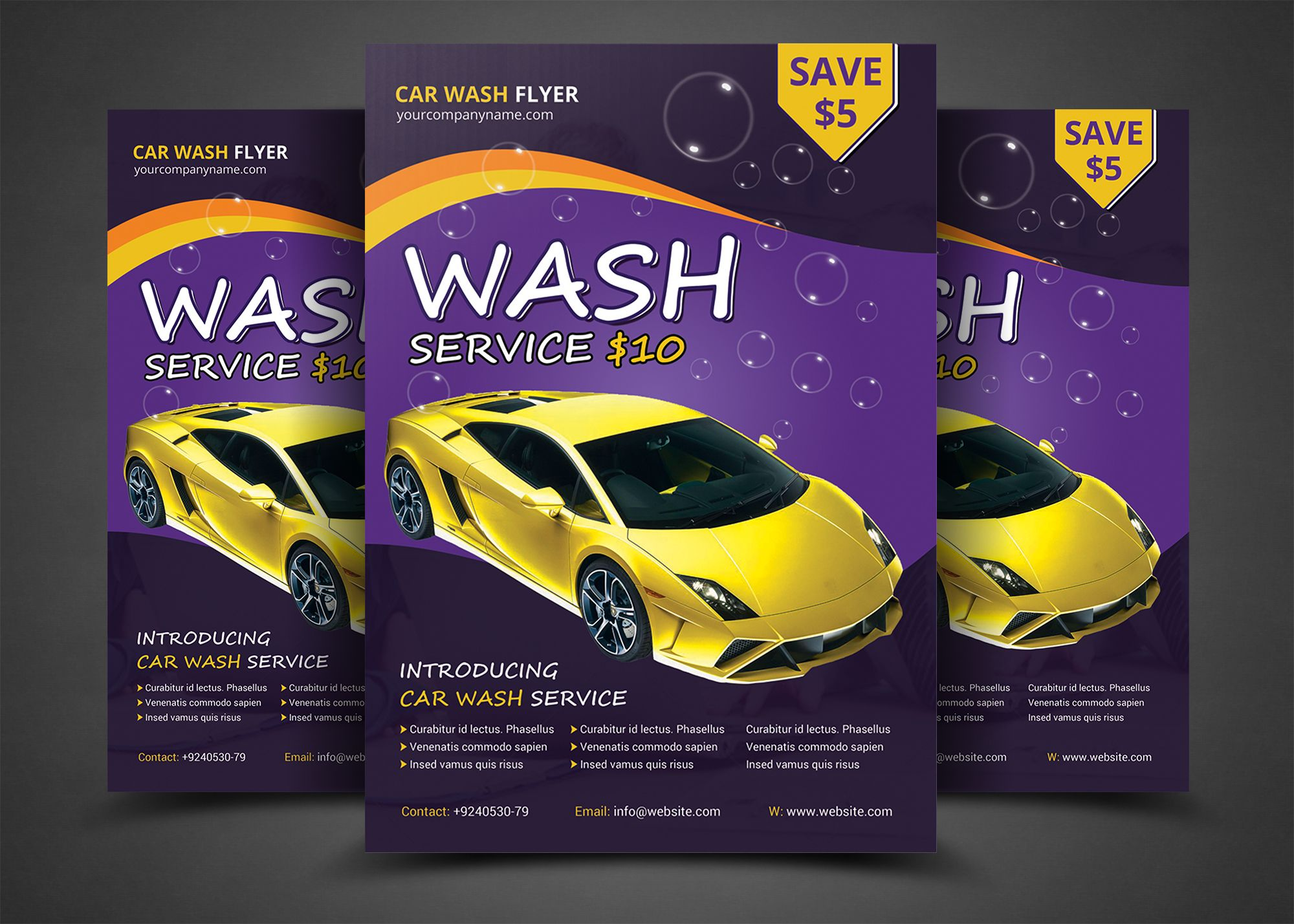 Car Wash Flyer Templates By Afzaalgraphics On Creativemarket Gg