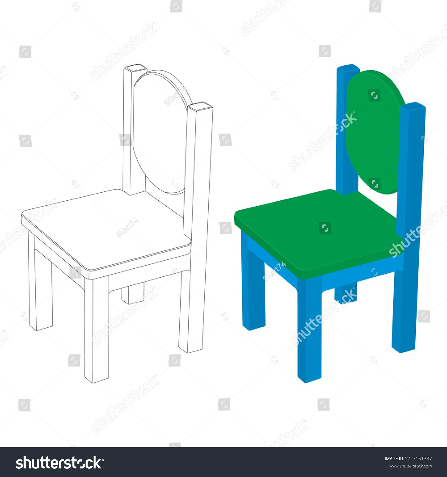 The Colorful Kids Chair Vector Illustration The Chair Furniture Clip Art The Chair Coloring Page Ad Sponsored Ve In 2020 Kids Chairs Branding Design Logo Chair