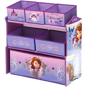 Delta Disney Sofia The First Multi Bin Toy Organizer Lavender
