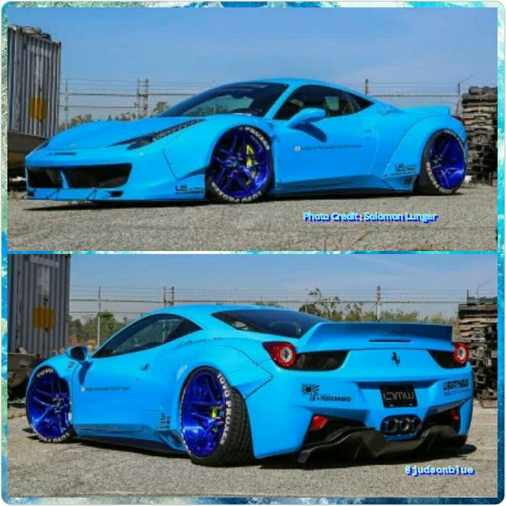 ferrari italia widebody. this blue ferrari 458 italia widebody built by ltmotorwerks of california and liberty walk usa is -