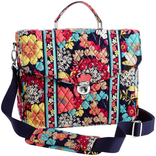 Vera Bradley Hy Snails Attache Messenger Bag Liked On Polyvore Featuring Bags