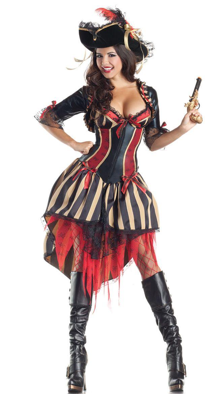 deluxe shaper pirate costume womens pirate costumescorset costumesadult - Pirate Halloween Costumes Women