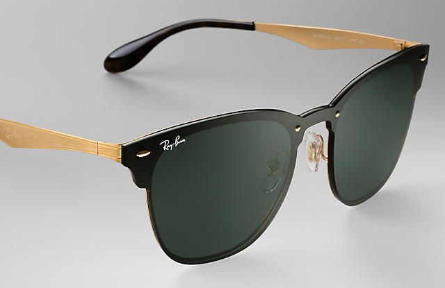 538c8c93cd Ray-Ban 0RB3576N-BLAZE CLUBMASTER Gold SUN Ray Ban Sunglasses