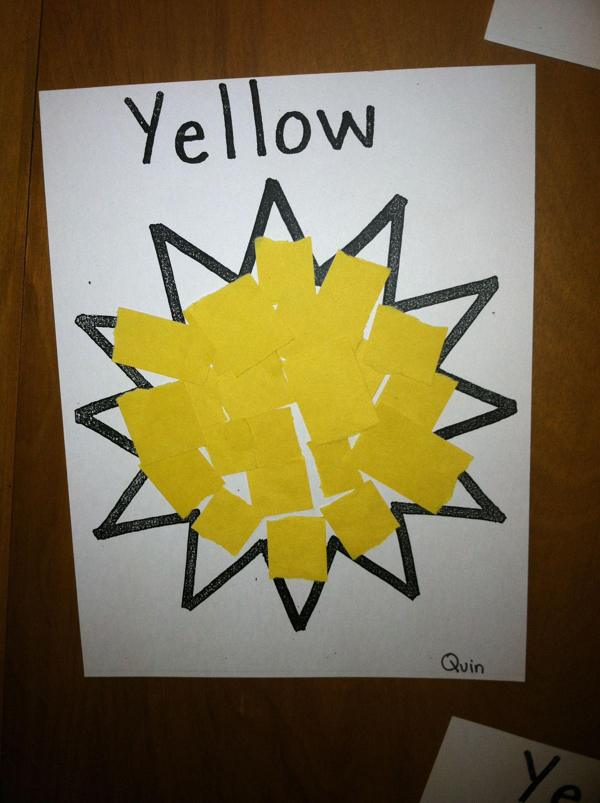 Yelling Yellow Kindergarten Teach The Color Yellow