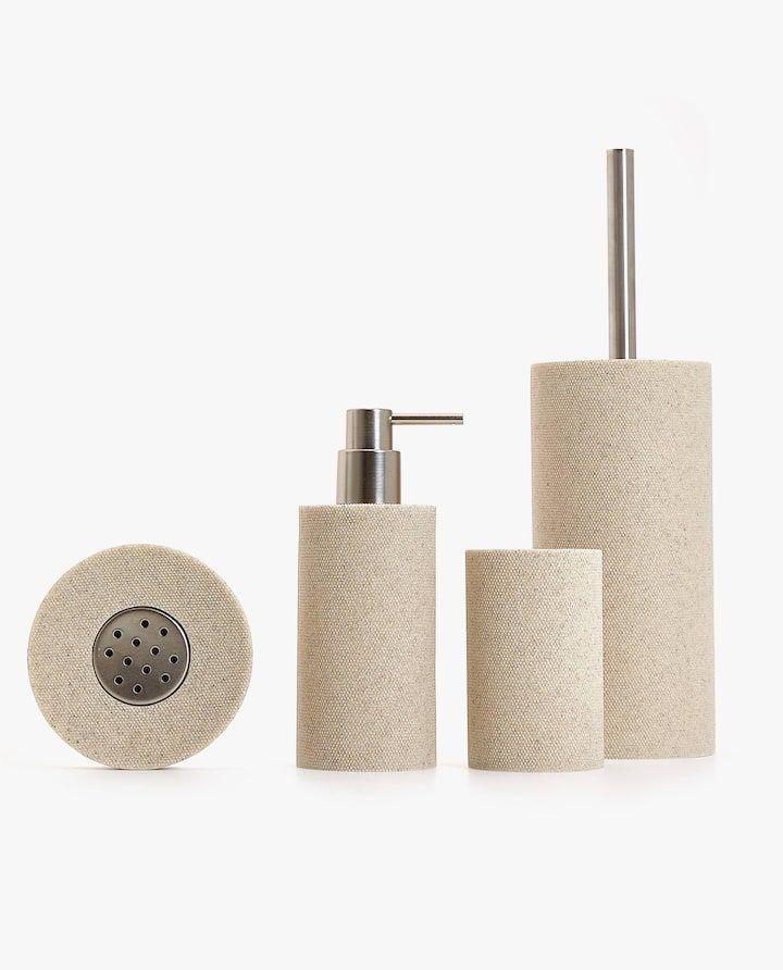 Textured Resin Bathroom Set Cerise