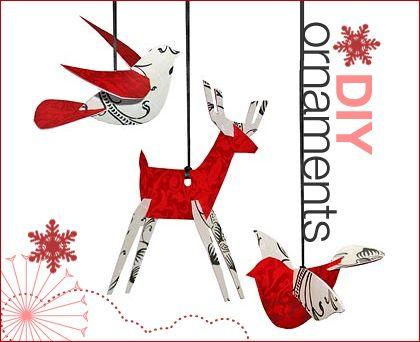 DIY animal ornaments