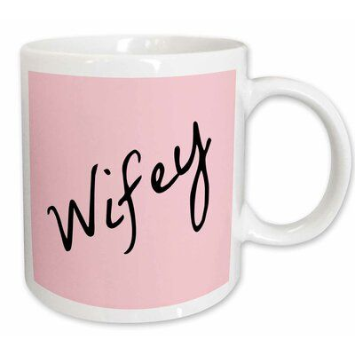 Photo of Le Prise Aarav Wifey Text in Wife Half of Mr and Mrs Set Funny Nickname Coffee Mug Color: White/Pink/Black, Capacity: 15 oz.