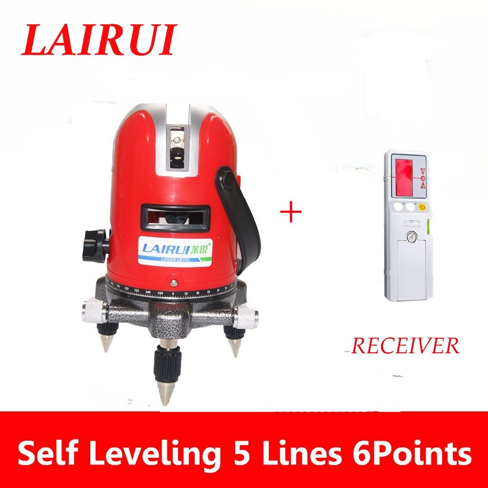 Us 83 60 Lairui 5 Lines 6 Points Laser Level 360 Degree Rotary Cross 635nm With Outdoor 635nm Cross Degree Lairui Laser Level Lines Outdoor Points