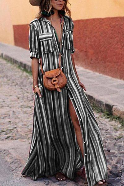 Daytime Maxi Dress with Sleeves