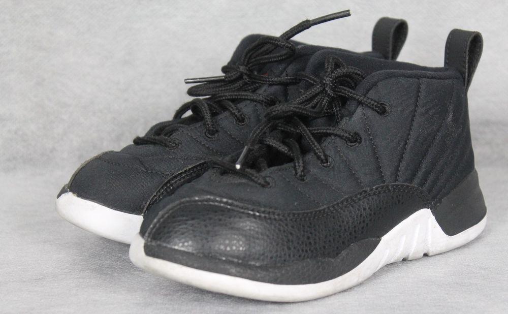 3c70bdaf734 NIKE Air Jordan 12 XII Retro TD Neoprene Nylon Shoes 850000-004 10c #Nike  #Athletic
