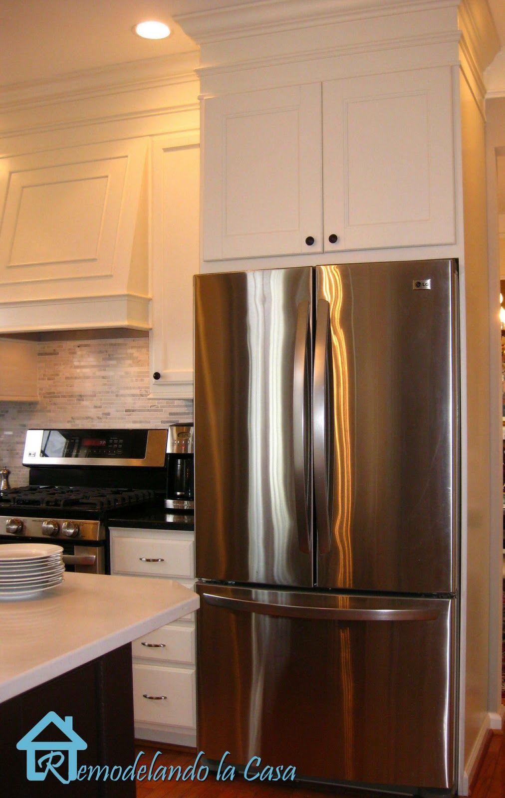 Building the Refrigerator Enclosure Kitchen redo