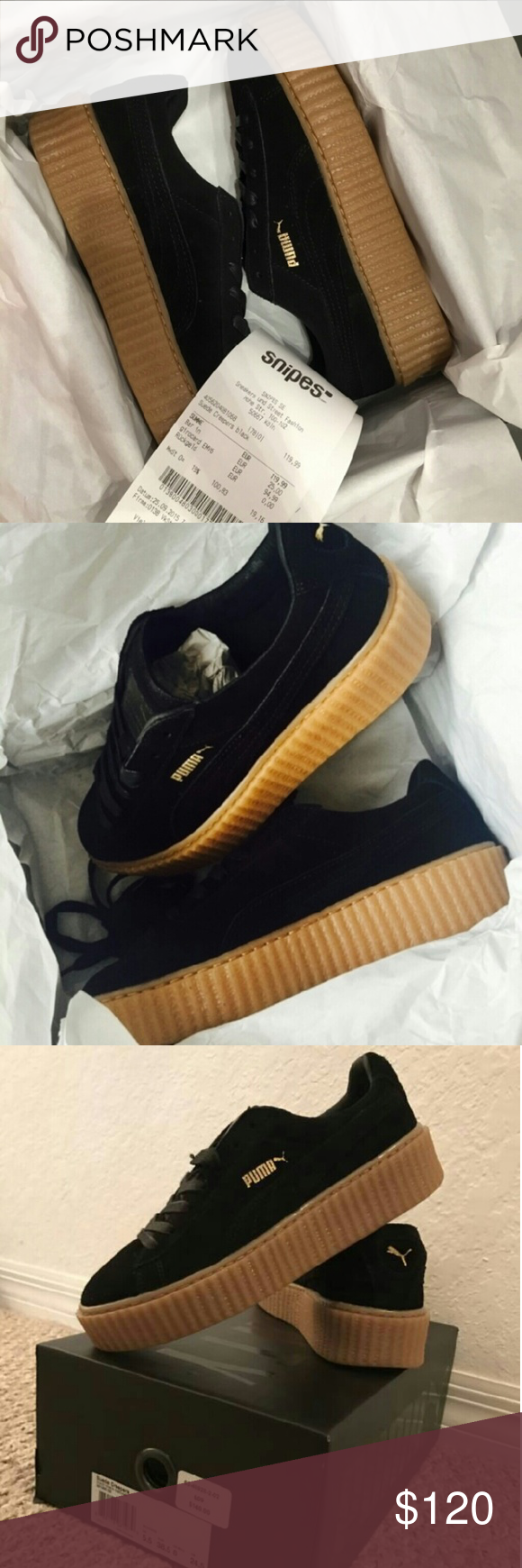 Black x Oatmeal Creepers Looking for your size? Need to place a pair on hold? Txt 400-850-2098 -serious inquiries only! Puma Shoes