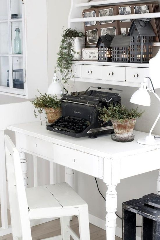 I want an old typewriter soooo so bad. Preferably one of the ...