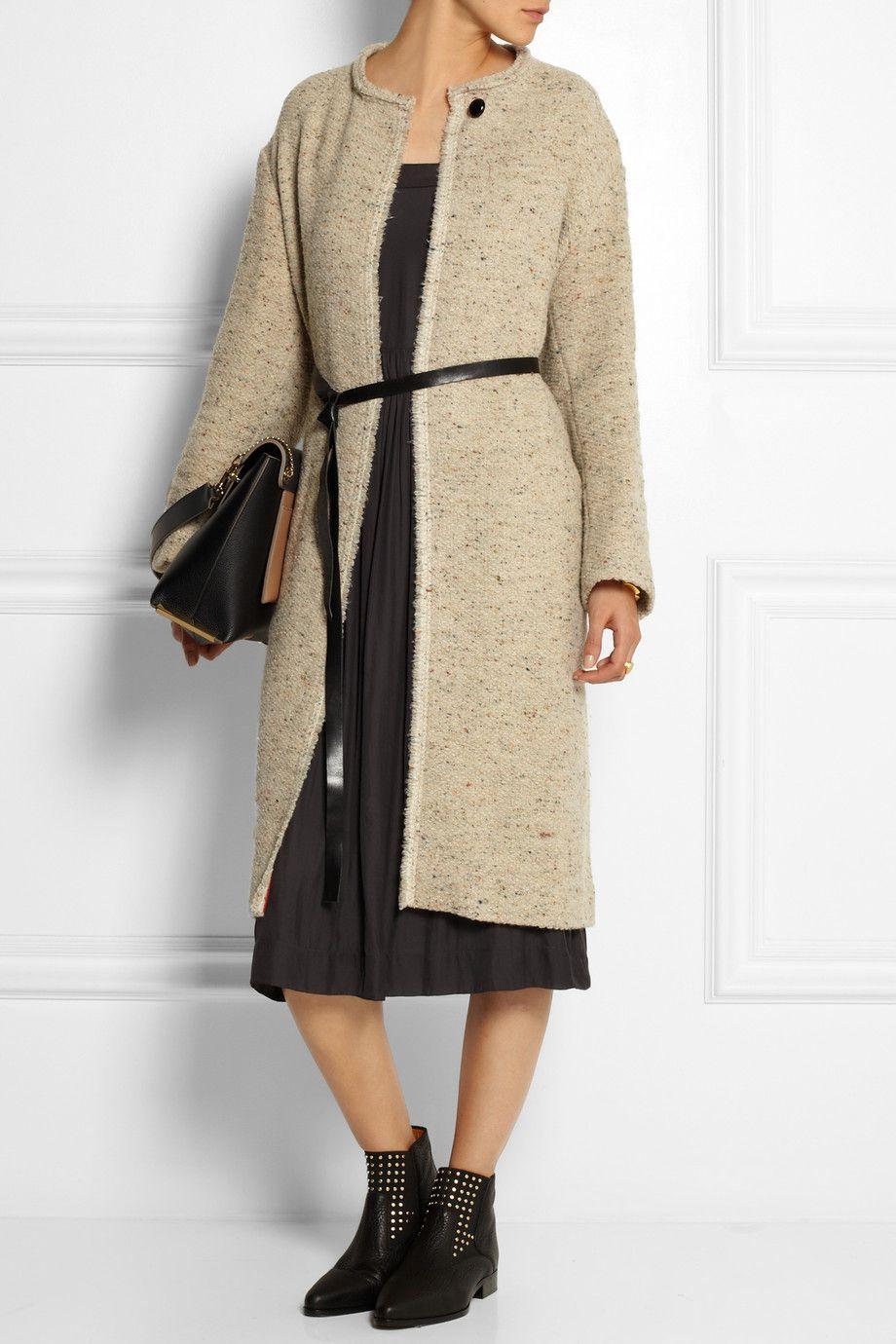 Isabel Marant Easton belted tweed coat