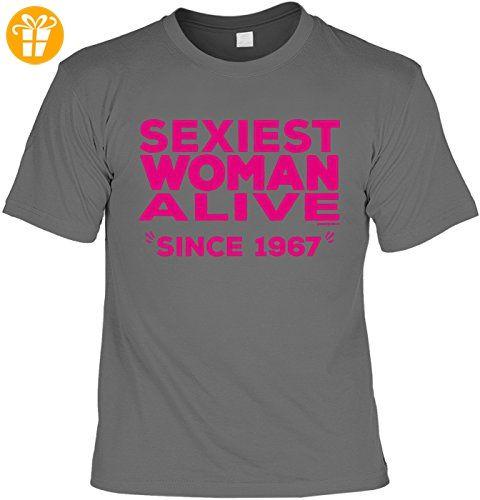 Cooles T-Shirt zum 50. Geburtstag Sexiest Woman Alive Since 1967 Geschenk  50 Geburtstag