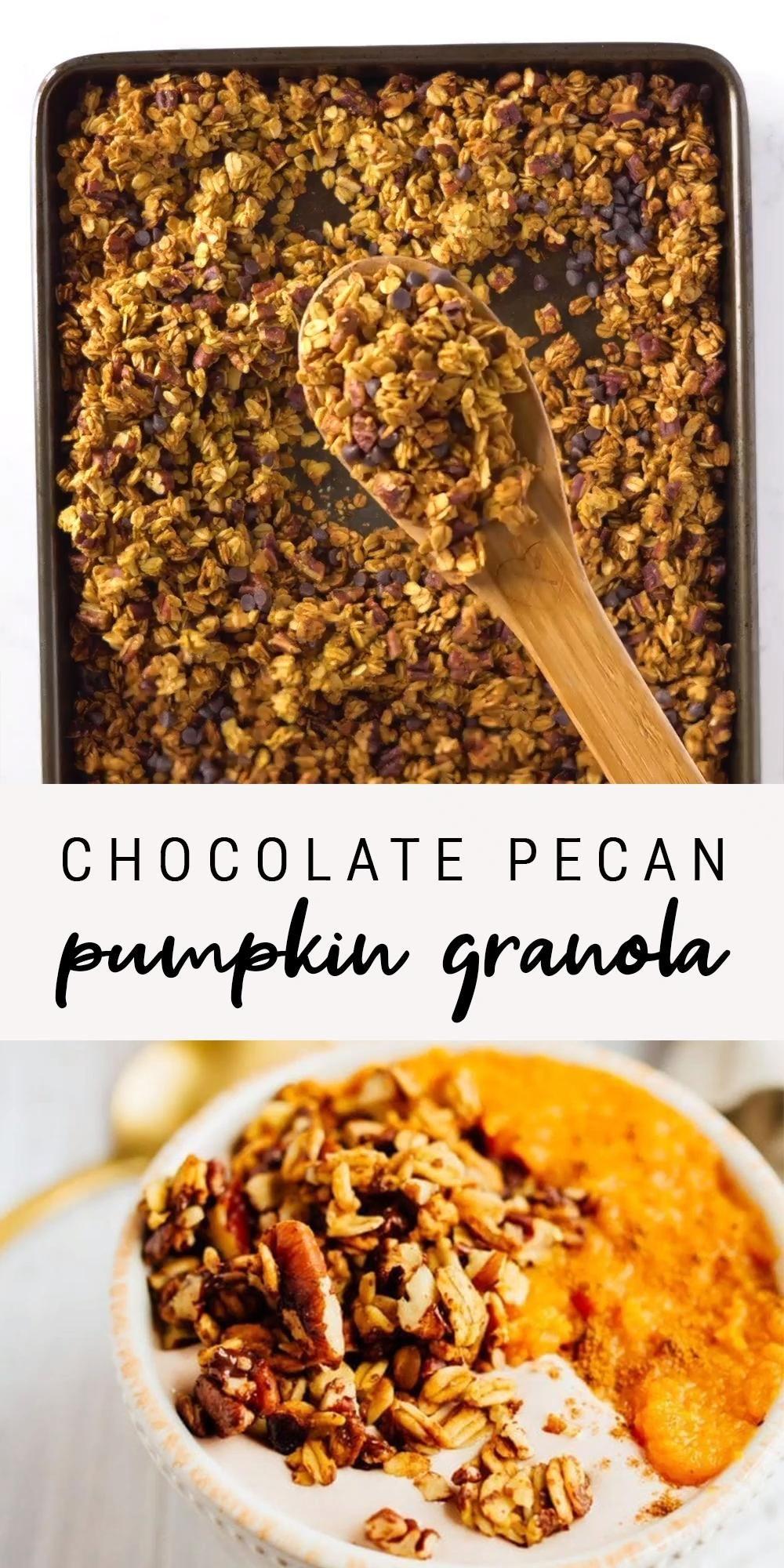 Healthy + Easy Pumpkin Granola | Chocolate Chip Pe