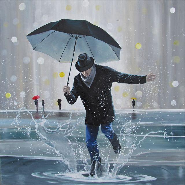 может открытки гифки человек с зонтом как