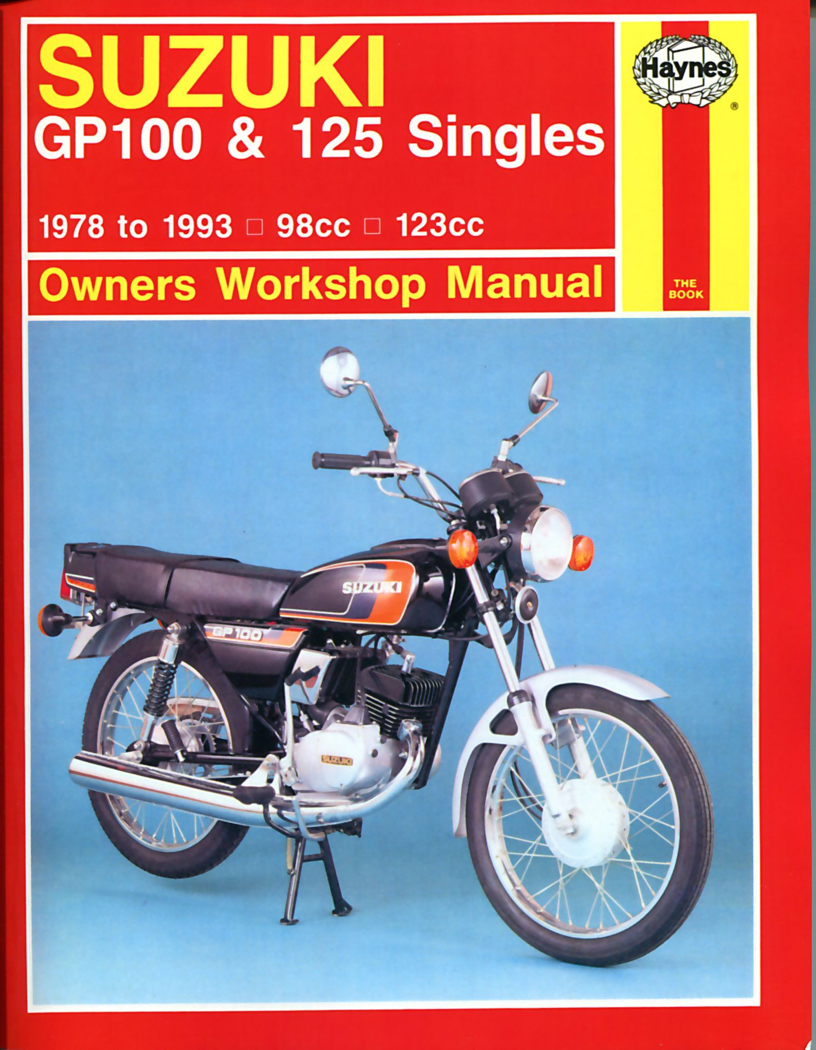 Haynes M576 Repair Manual for 1978-93 Suzuki GP100 and 125 Singles
