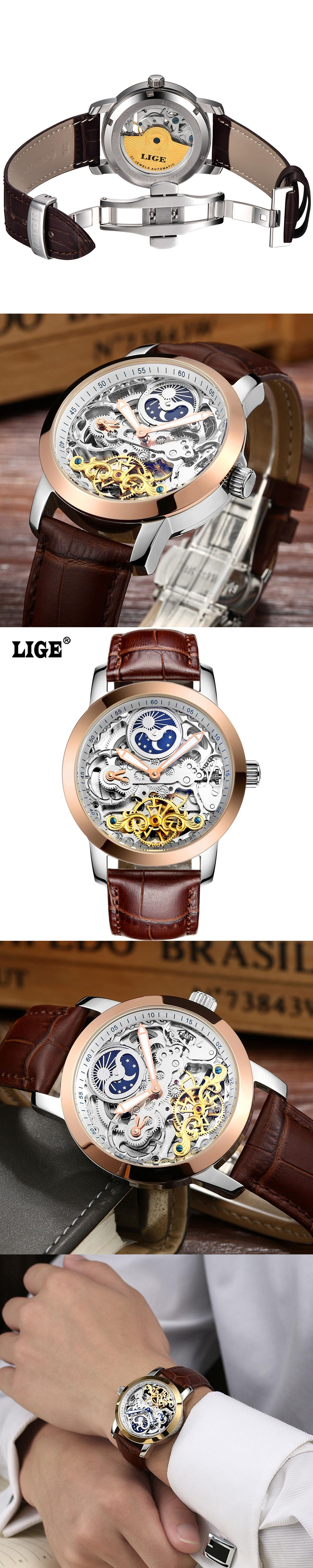 rose gold montmartre chestnut new hot watch blue orange royal with leather watches lige brown auree rg pink strap