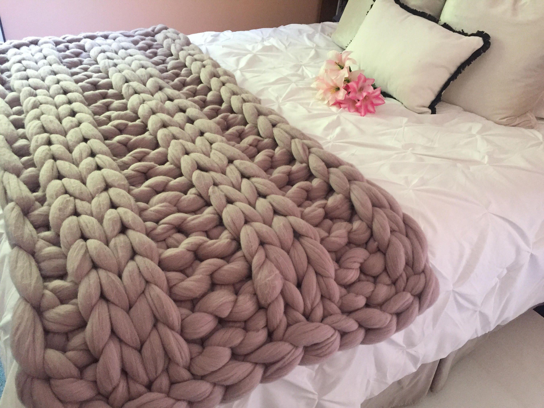 chunky knit blanket merino wool blanket chunky knit blanket arm