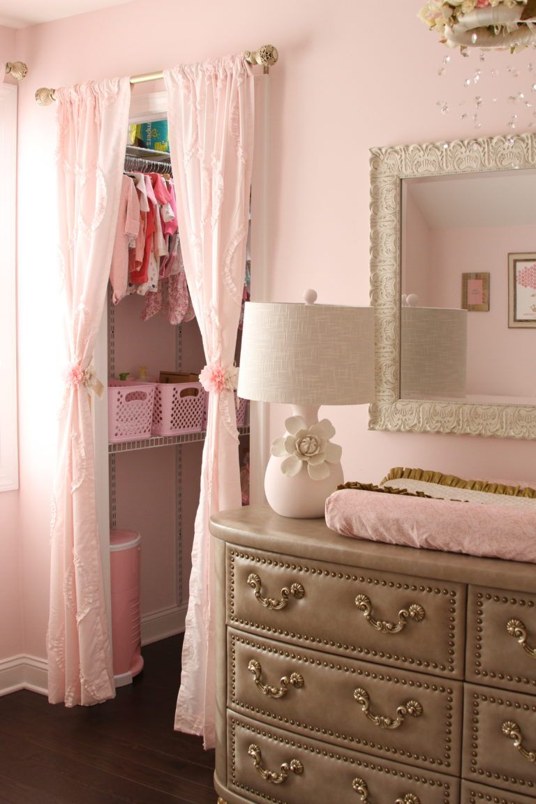 Soft Pink Gold And Ivory Shabby Chic Nursery In 2019