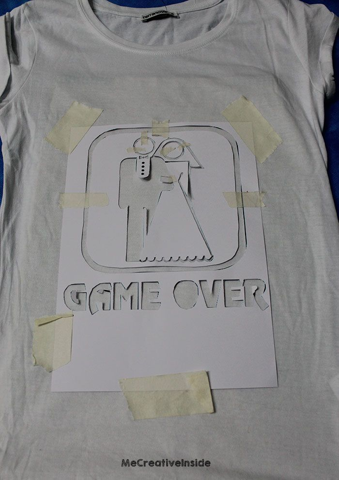 diy tutorial Maglia Sposa 'Game Over' fai da te per addio al nubilato ME creativeinside