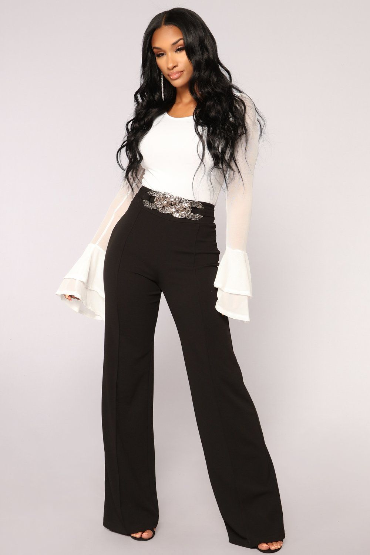040c9f4c79dca0 Kara High Rise Pants - Black in 2019 | Outfit Ideas -- Formal ...