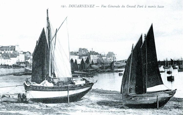 """D 1796 """"Sainte-Croix"""", 1911  Galerie de bateaux de pêche de DOUARNENEZ (chaloupe) - www.bagoucozdz.fr"""