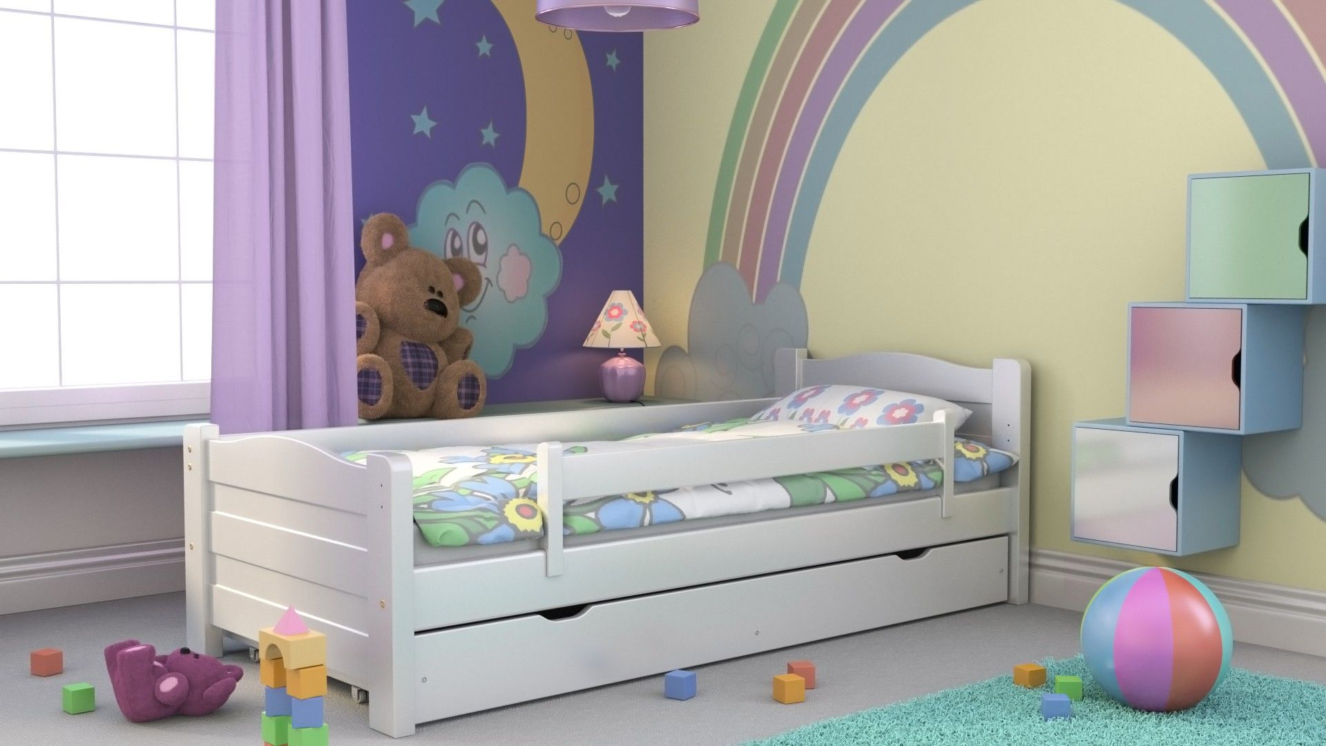 Kinderbett Ausziehbett Maxi Inkl Lattenrost Und Schublade