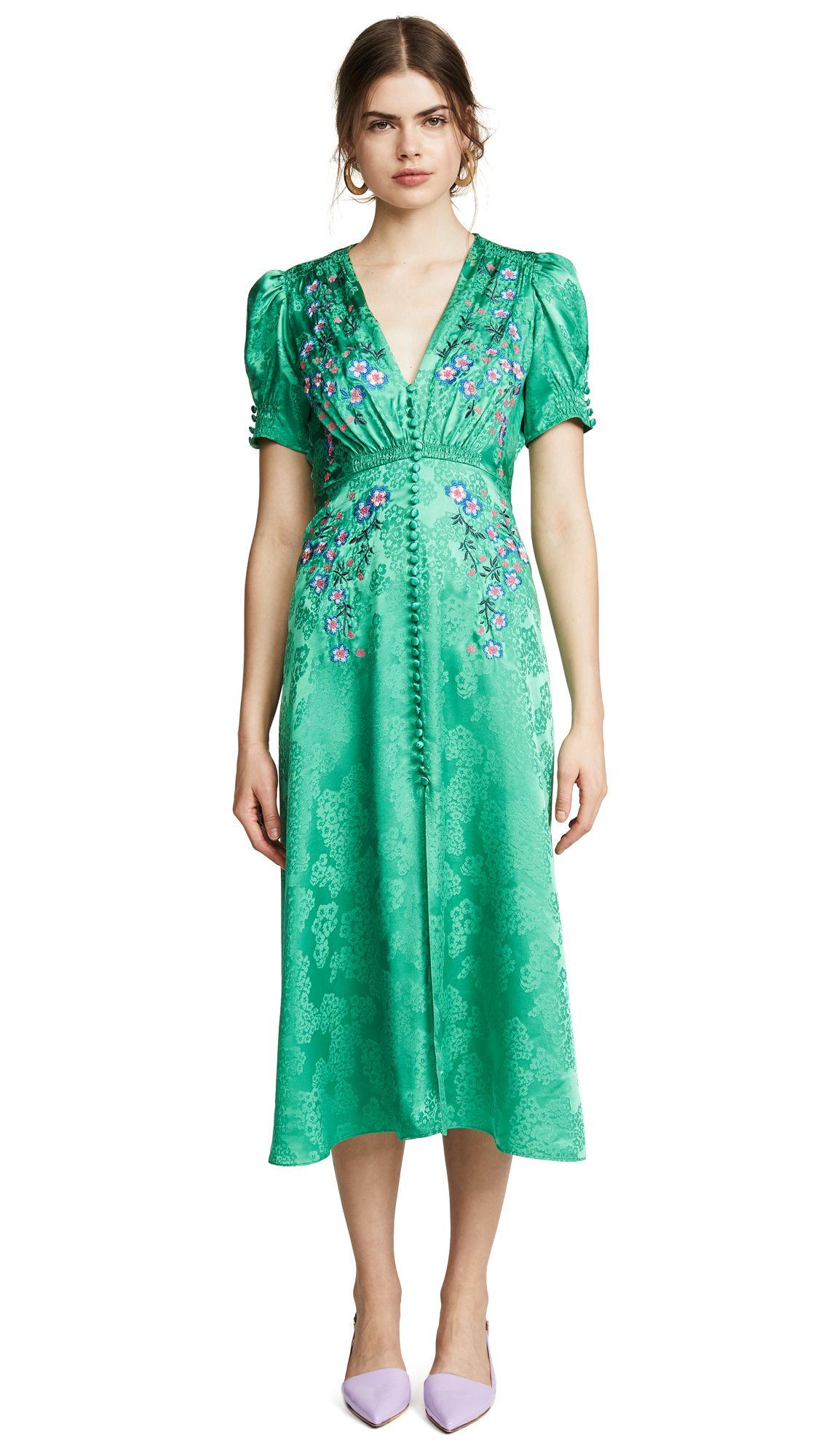 a640af864 SALONI LEA DRESS. #saloni #cloth # Embroidered Silk, Embroidered Flowers,  Floral