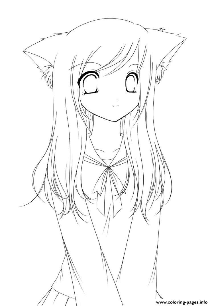 Anime Girl Coloring Pages : anime, coloring, pages, Anime, Coloring, Pages, Drawing