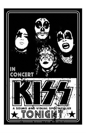 concert flyer art | Great black and white poster featuring ...