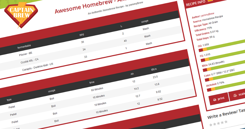 Captain Brew helps you create & discover awesome homebrew