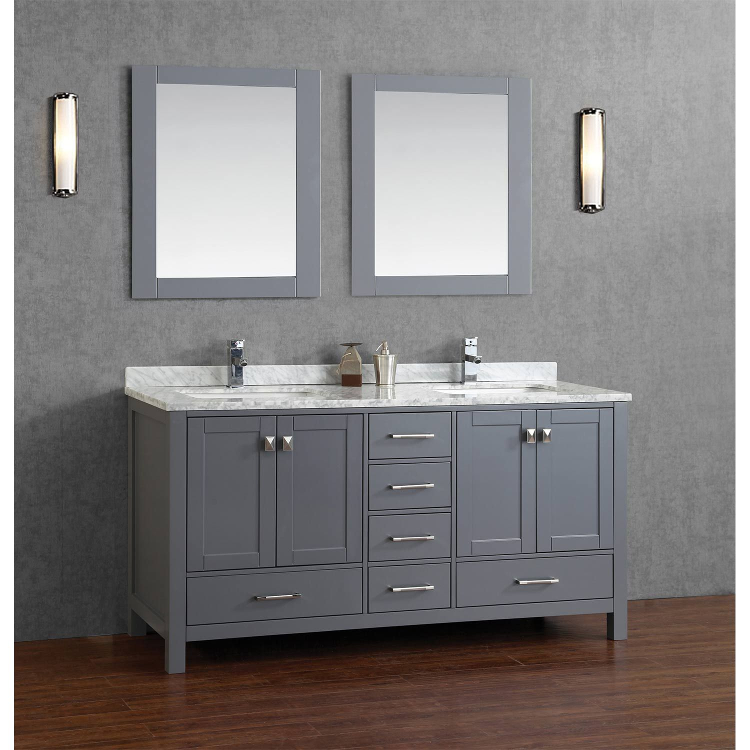 Buy Vincent 72 Inch Solid Wood Double Bathroom Vanity In Charcoal Beauteous 72 Inch Bathroom Vanity Double Sink Design Decoration