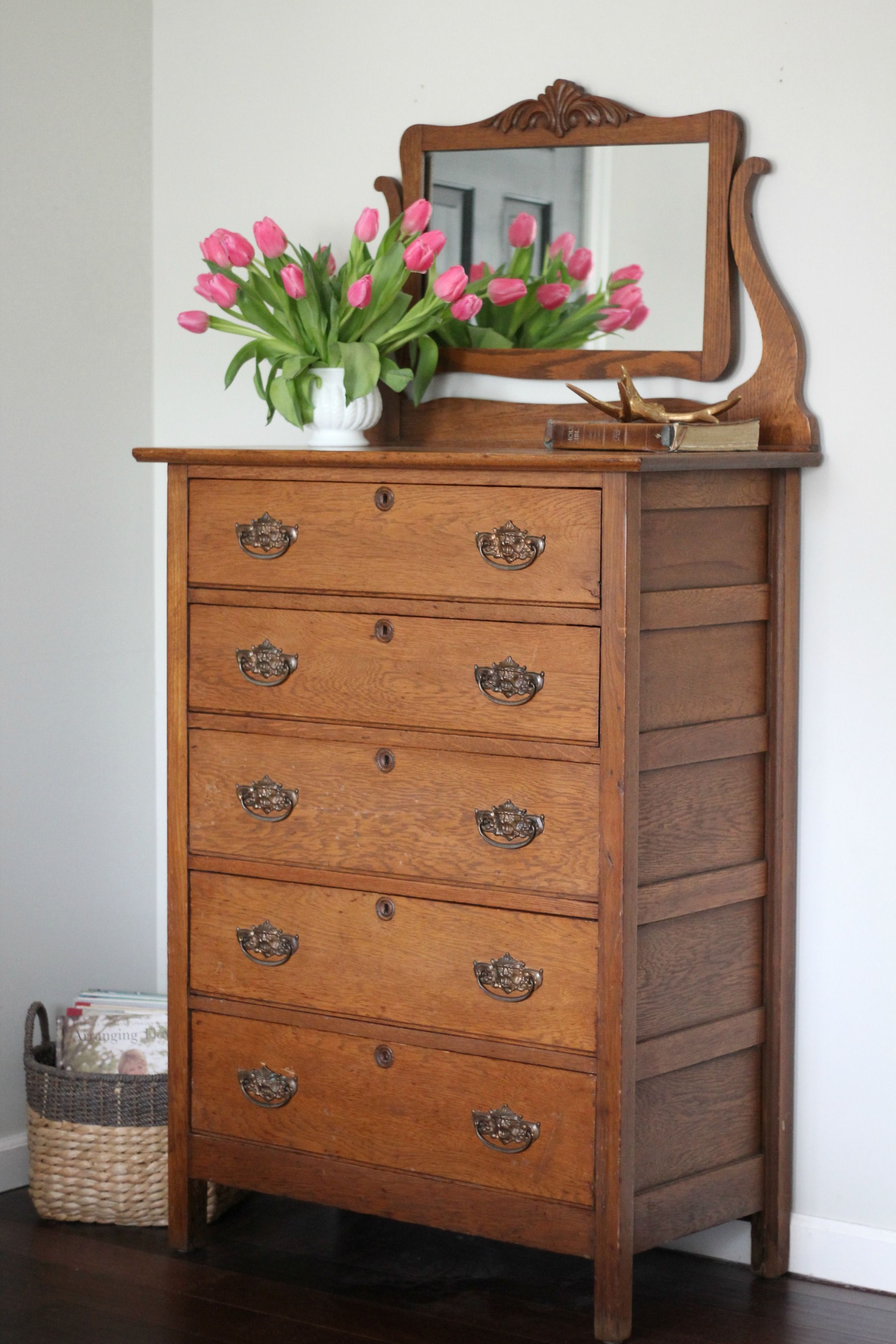 Antique oak highboy dresser lovely the latest addition to our