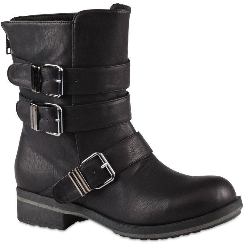 26e8f6714a67 jcpenney - Call It Spring™ Nadell Triple-Buckle Motorcycle Boots - jcpenney.  Oh yeah!