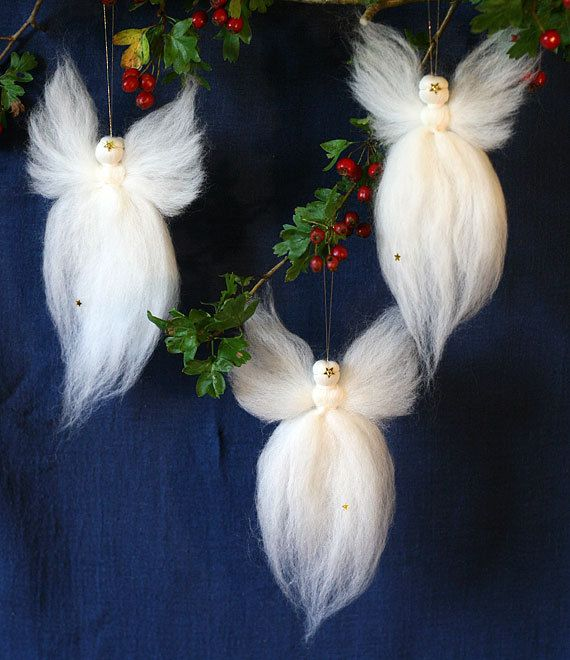 these would be pretty easy to make and really pretty hung with boughs of holly and - Angel Decorations