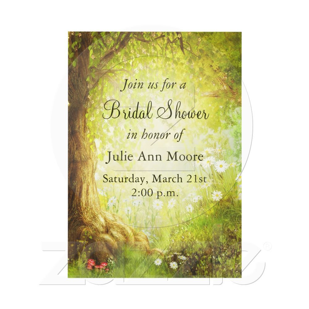 Enchanted Forest Scene Invitation Enchanted Bridal Showers And