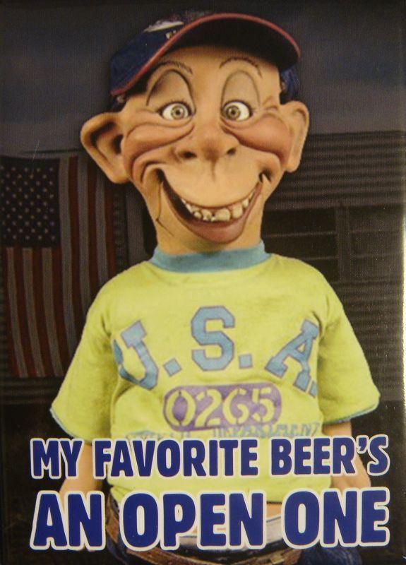 dunam jeff dunham bubba j my favorite beer fridge magnet new jeff