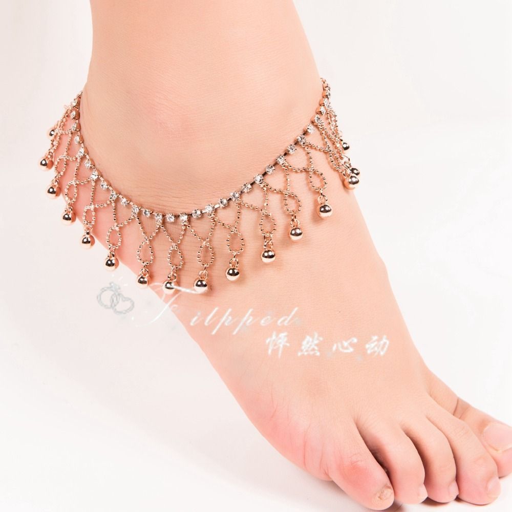 ankle and vintage jewelry anklets beach boho pin bracelet bracelets anklet bells with barefoot