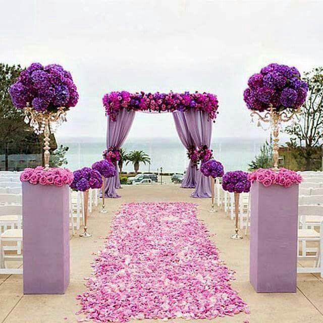 Pin By Ania On Say I Do Purple Wedding Reception Orchid Wedding Church Wedding Decorations