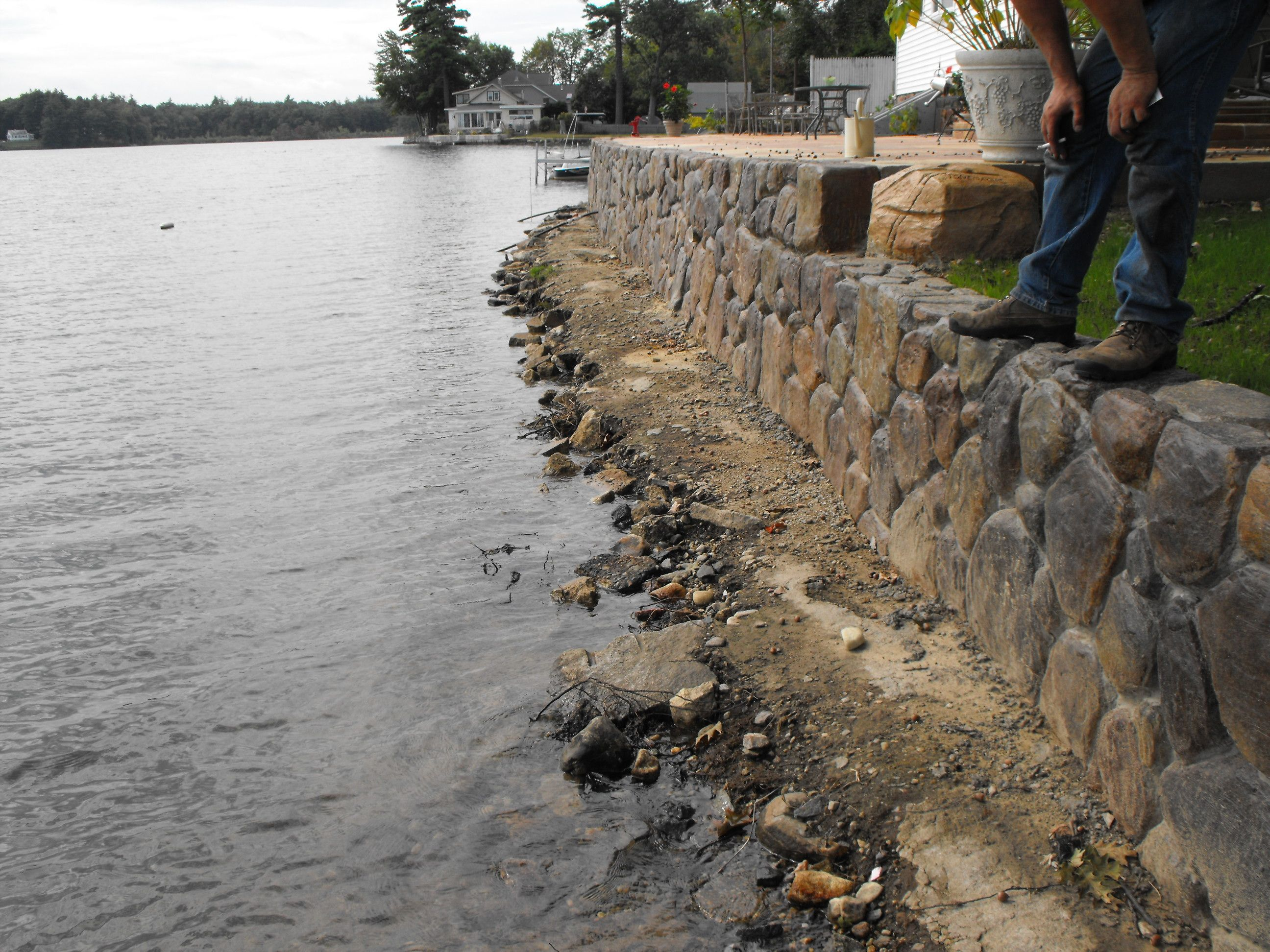 Concrete Seawall Looks Nicer Than A Steel Wall Doesn T It Just As Strong Sea Wall Steel Wall Outdoor