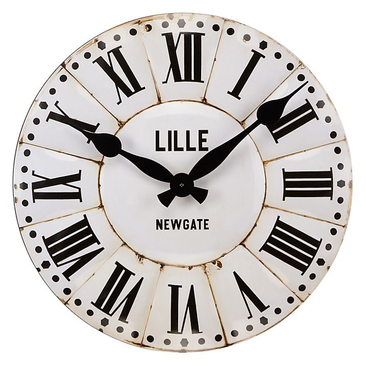Buy Newgate Lille Wall Clock Dia50cm White Online At Johnlewis