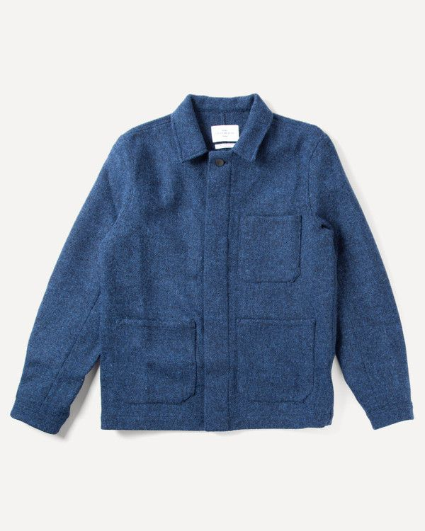 11729416a A Kind Of Guise - Istanbul Jacket in Blue Melange Wool Tweed | Ready ...