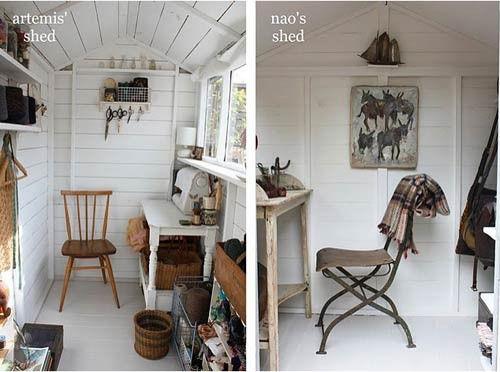 Garden Sheds Inside peek inside a garden shed---nice! | houses..tiny, garden, tree
