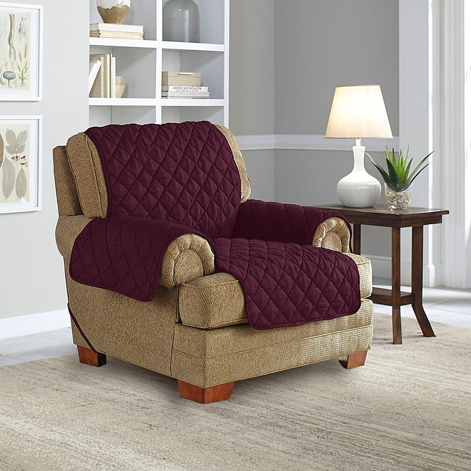 Perfect Fit® NeverWet Recliner Cover in Plum (With images