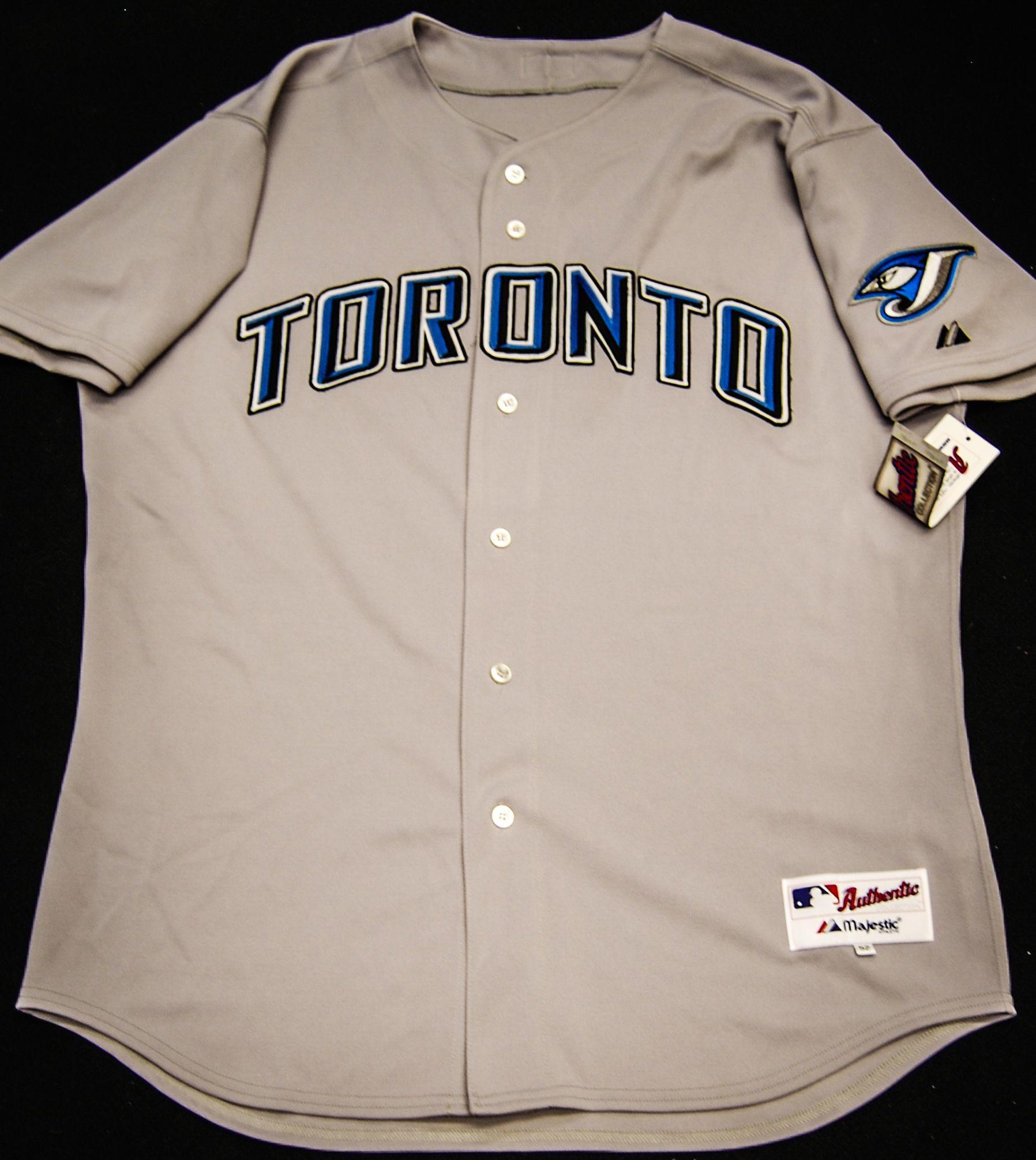 uk availability bbc90 0a3cc Authentic Gray Toronto Blue Jays Away Jersey | Toronto Blue ...
