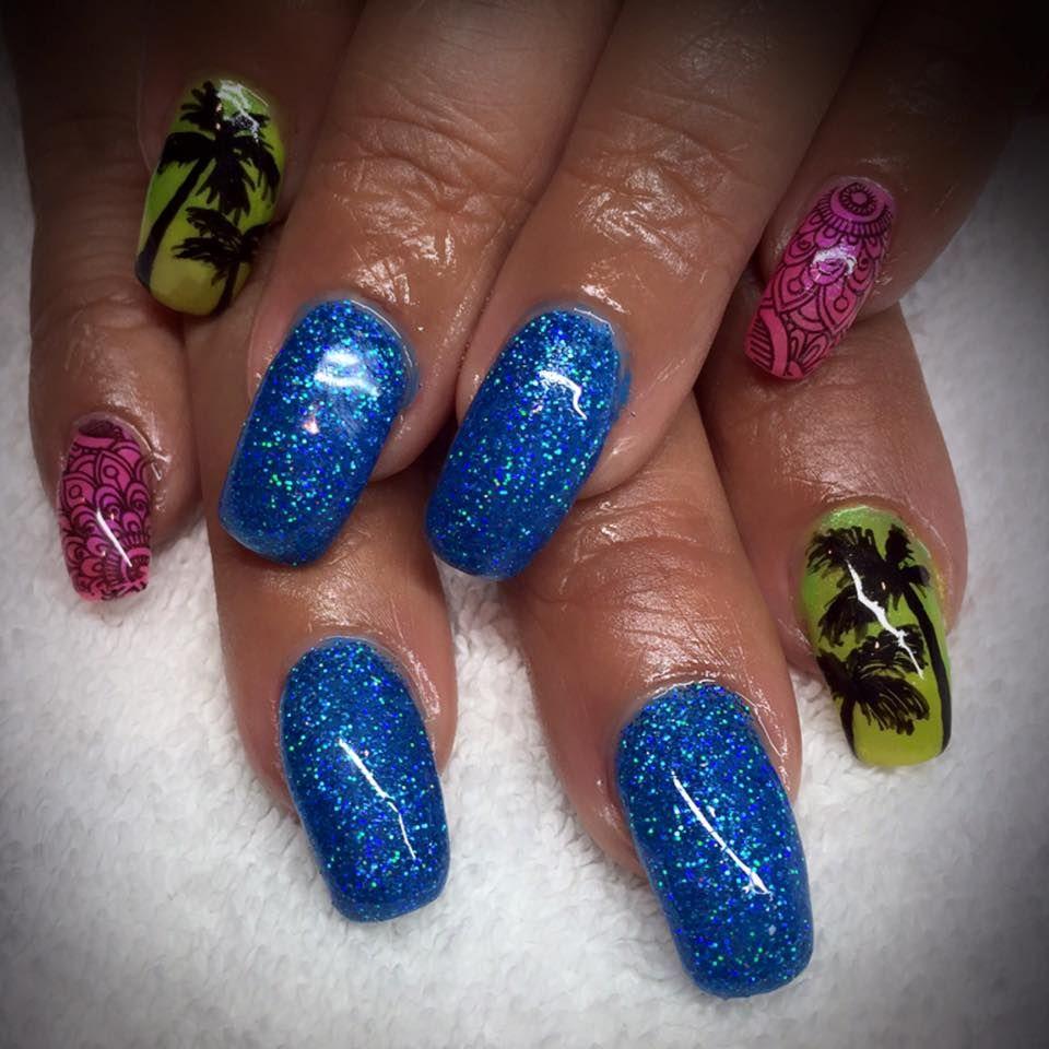 Nail Designs by Stefanie Abila Summer Tropical Neon Nails www ...