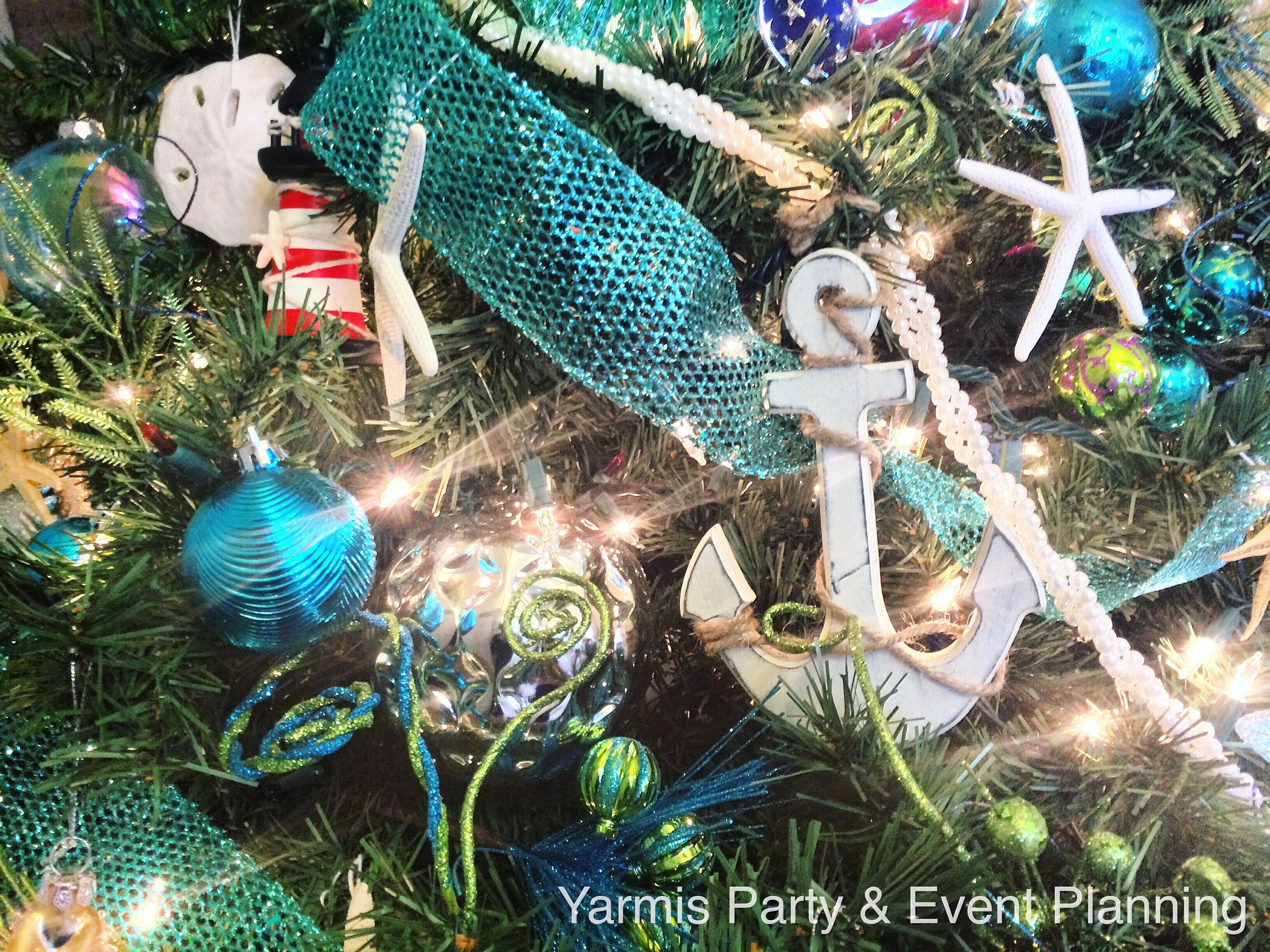 Yarmis Party Unique beach & ocean themed Christmas tree with beach ...