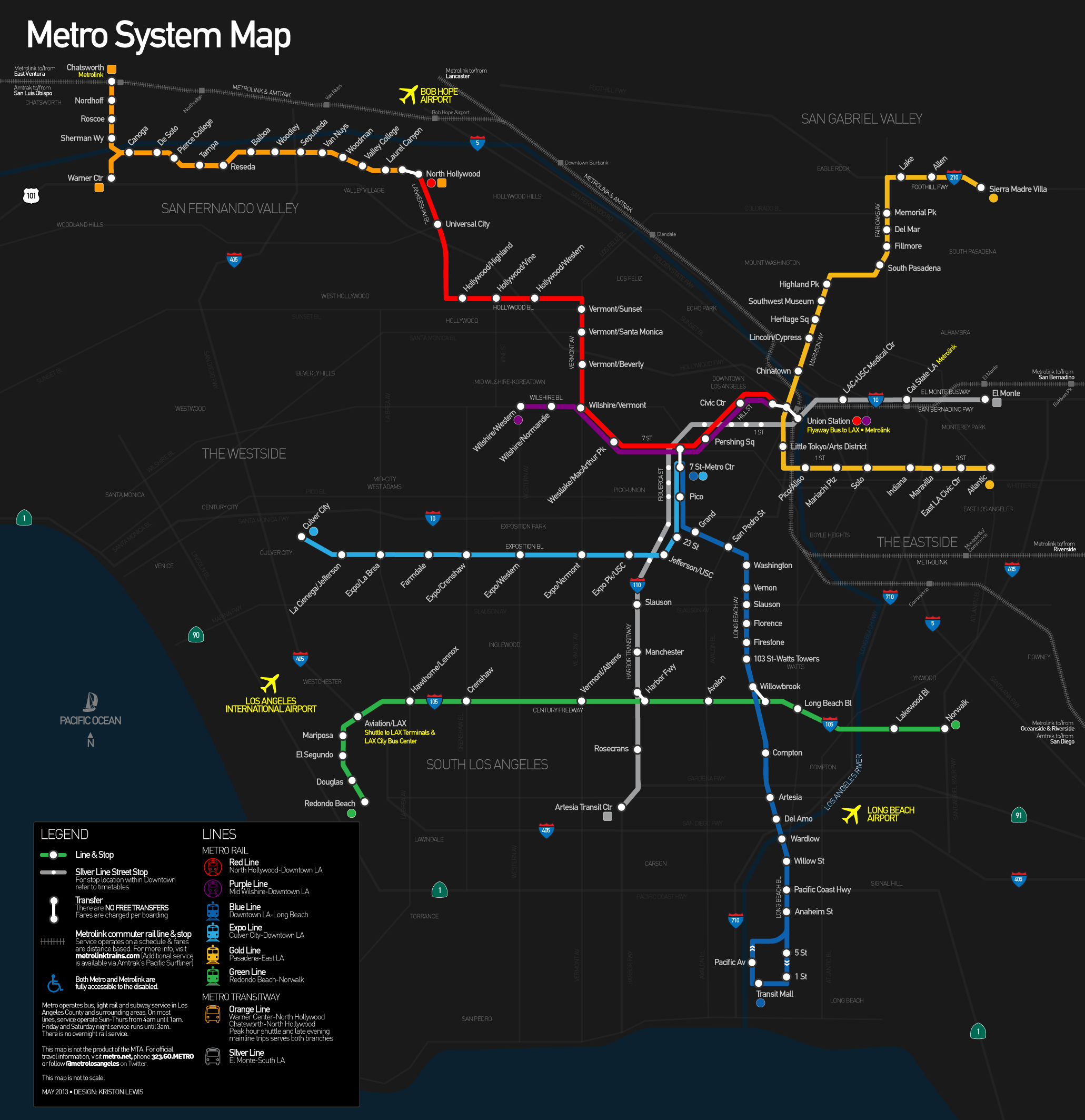 Los Angeles MetroSubway map Urban Pinterest Subway map Train